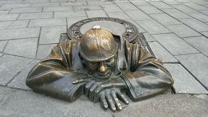 Le statue curiose di Bratislava